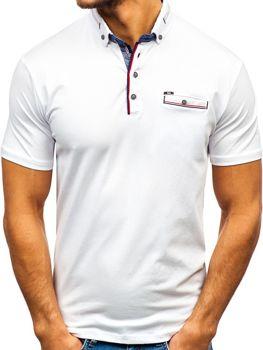 Чоловіча футболка поло біла Bolf 192037