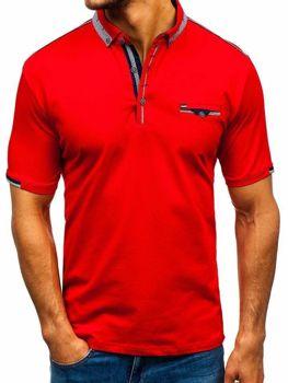 Чоловіча футболка поло червона Bolf 192034