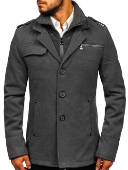Чоловіче пальто сіре Bolf 8856