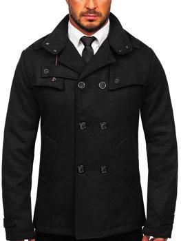 Чоловіче пальто чорне Bolf 8857