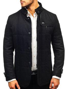 Чоловіче пальто чорне Bolf EX66A 278d311282c93