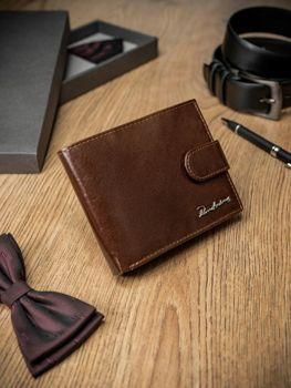 Чоловічий гаманець шкіряний коричневий 1679