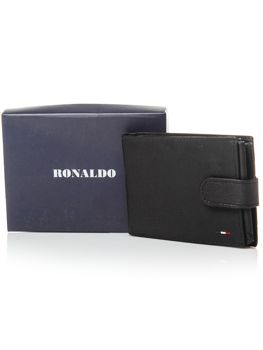 Чоловічий гаманець шкіряний чорний 3076
