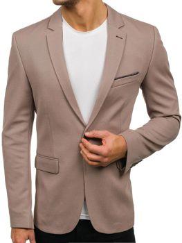 Чоловічий елегантний піджак бежевий Bolf302