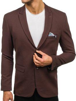 Чоловічий елегантний піджак коричневий Bolf192