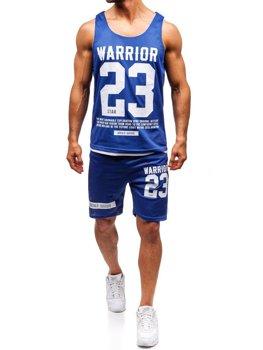 Чоловічий комплект футболка + шорти Bolf синій 100778