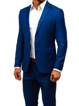 Чоловічий костюм темно-синій Bolf 19100