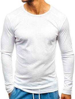 Чоловічий лонгслів без принта білий Bolf C10046
