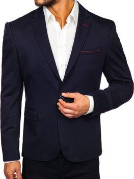 Чоловічий піджак темно-синя Bolf RBR406
