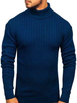 Чоловічий светр гольф синій Bolf 315