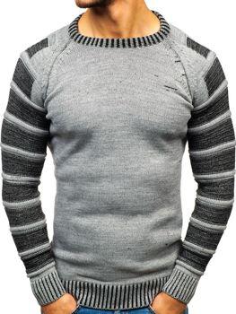 Чоловічий светр сірий Bolf 6007