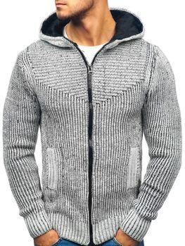 Чоловічий светр сіро-чорний Bolf 20008