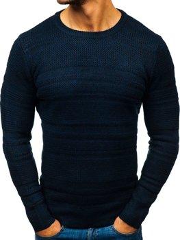 Чоловічий светр темно-синій Bolf H1805