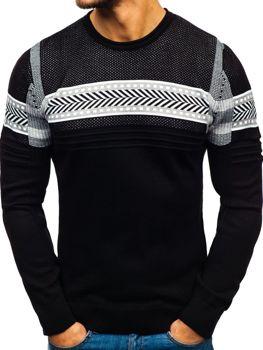 Чоловічий светр чорний Bolf 1016