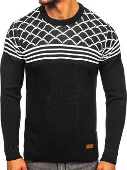 Чоловічий светр чорний Bolf 3017