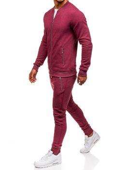 Чоловічий спортивний костюм бордовий Bolf 43S