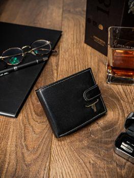 Чоловічий шкіряний гаманець чорний 57