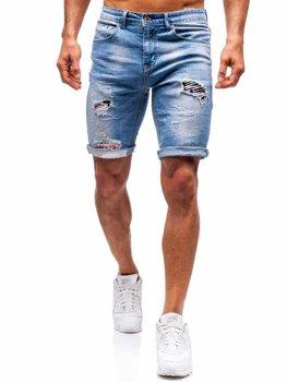 Чоловічі джинсові шорти сині Bolf 3962