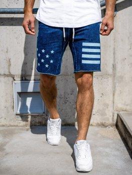 Чоловічі джинсові шорти темно-сині Bolf EX02