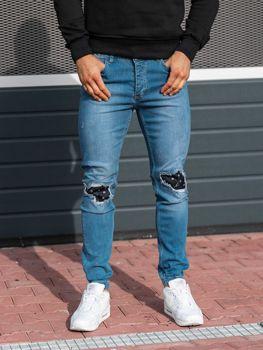 Чоловічі джинсові штани джогери сині Bolf 2044-1 49b1aea935486