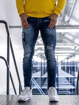 Чоловічі джинсові штани сині Bolf 1801