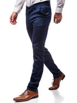 Чоловічі елегантні штани темно-сині Bolf 7616