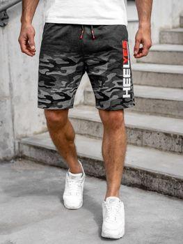 Чоловічі спортивні шорти графітові Bolf KK208