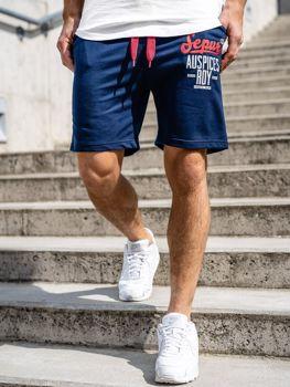 Чоловічі спортивні шорти темно-сині Bolf EX07