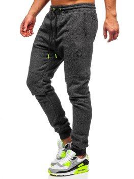Чоловічі спортивні штани антрацитово-салатові Bolf Q3778