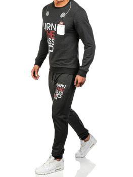 Чоловічі спортивні штани антрацитові Bolf 0761
