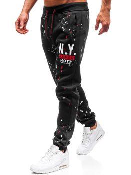 Чоловічі спортивні штани джогери чорні Bolf 55067 60ef707eb0a32