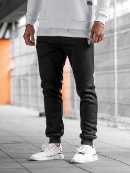Чоловічі спортивні штани джогери чорні Bolf AK13-1