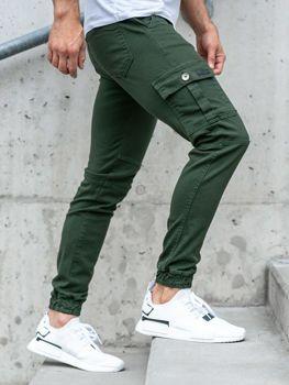 Чоловічі штани джогери зелені Bolf 2039-1