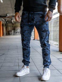Чоловічі штани джогери карго сині Bolf 0404