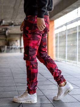 Чоловічі штани джогери карго червоні Bolf 0404