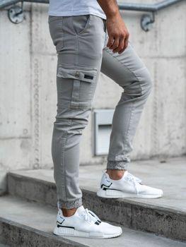 Чоловічі штани джогери сірі Bolf 2039-1