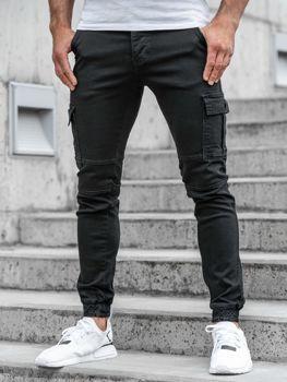 Чоловічі штани джогери чорні Bolf 2039