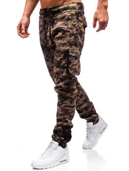 ХАКІ  КЕМЕЛ  ЗЕЛЕНИЙ  ЧОРНИЙ · Чоловічі штани джогеры карго камуфляж-зелені  Bolf 0705 10efe105bed2c