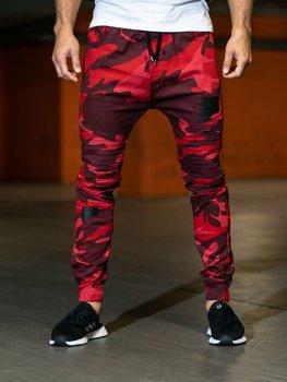 Чоловічі штани камуфляж-червоні Bolf 0829