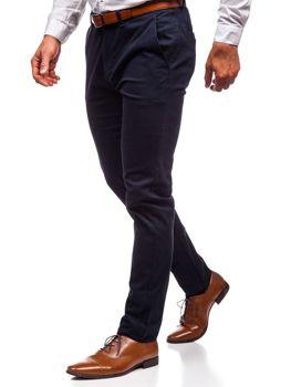 Чоловічі штани чінос темно-сині Bolf 1120