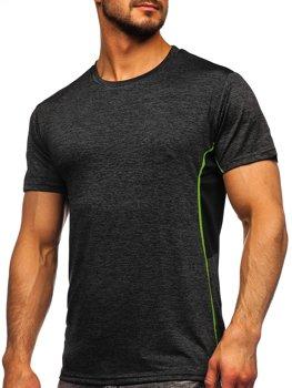 Чорна чоловіча тренувальна футболка Bolf HM073