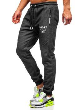 Чорно-білі спортивні чоловічі штани Bolf Q1042