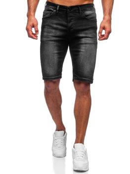 Чорні чоловічі джинсові шорти Bolf 3036