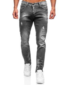 Чорні чоловічі джинсові штани regular fit Bolf 4006