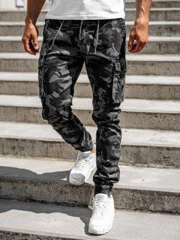 Графітові чоловічі штани джоггери-карго Bolf CT6019
