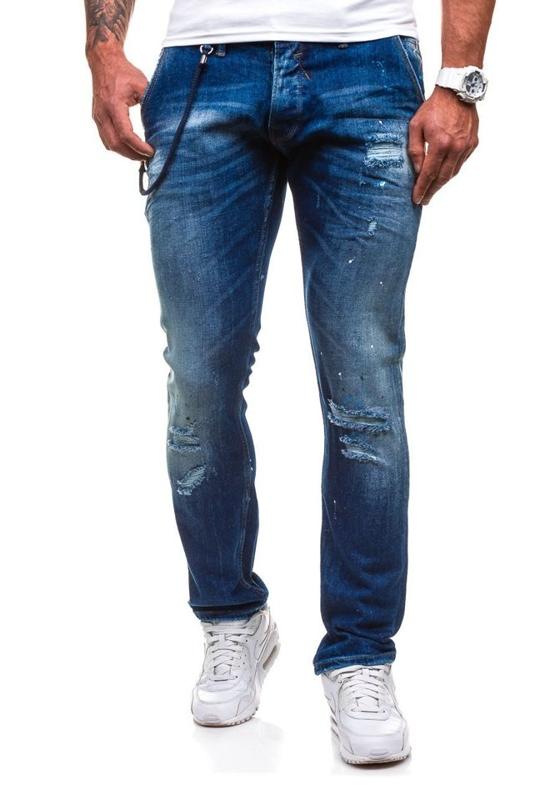 Джинси чоловічі DENIM REPUBLIC 4730 (1000) темно-сині