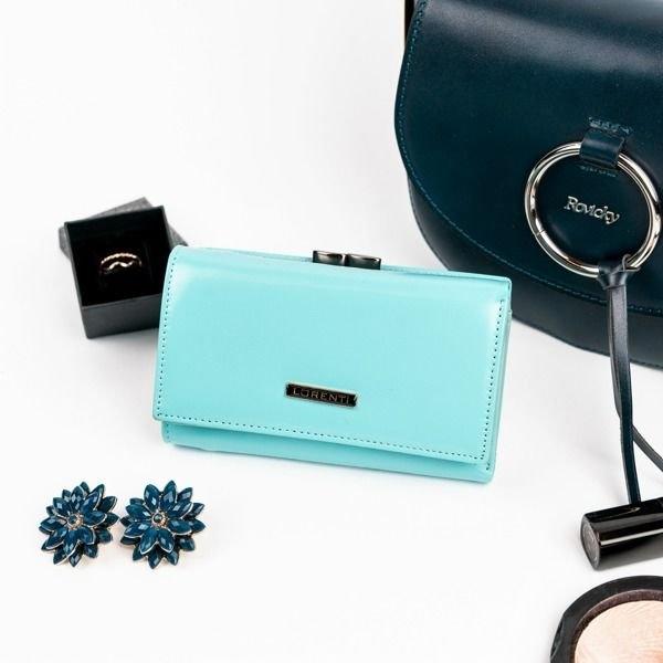 Жіночий шкіряний гаманець бірюзовий 860