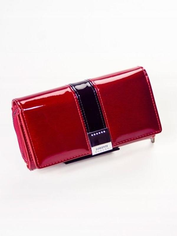 Жіночий шкіряний гаманець червоний 1212