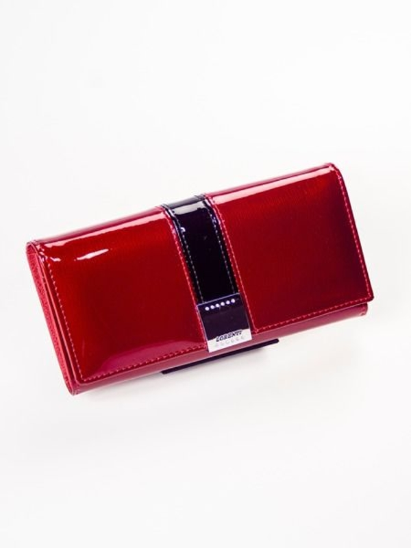 Жіночий шкіряний гаманець червоний 1217
