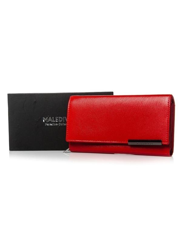 Жіночий шкіряний гаманець червоний 2689
